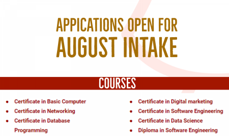 Applications open for August Intake